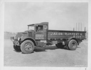 1930s Mack AK Truck Press Photo 0308 - Jacob Rupperts Brewery Beer