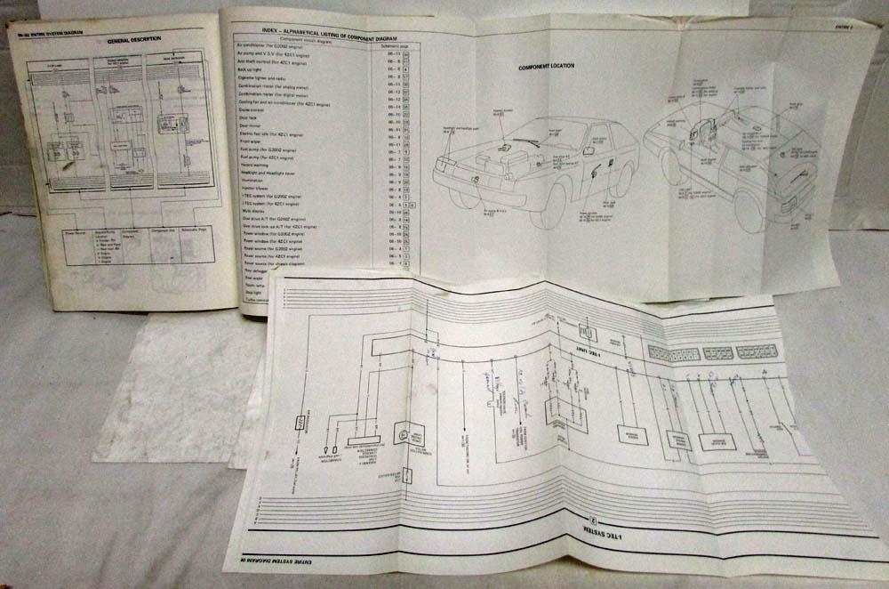1986 Isuzu Impulse Electrical System Wiring Diagrams ...