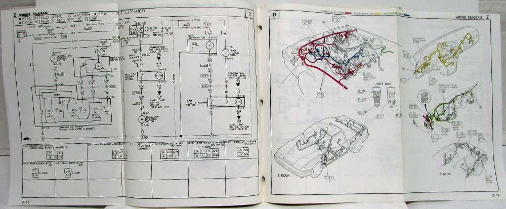 1991 Mazda 626 MX-6 Electrical Wiring Diagram