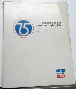1975 Chrysler Dodge Plymouth Dealer Service Training Book Passenger Car Updates