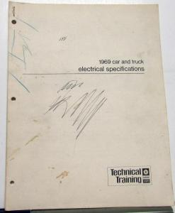 1969 Chrysler Dodge Plymouth Dealer Car Truck Electrical Specifications Booklet