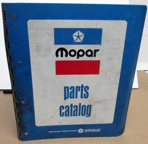 1975 Mopar Parts Book Plymouth Dodge Charger Road Runner Duster Dart