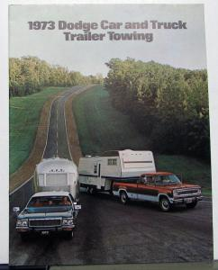 1973 Dodge Car & Truck Trailer Towing Dealer Brochure Charger Dart Pickup Van
