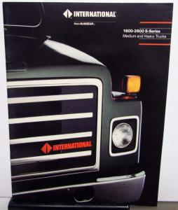 1989 International Trucks Navistar 1600 2600 S SERIES MD HD Sales Brochure