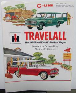 1961 International IHC Trucks Travelall Station Wagon C Line Sales Brochure Orig