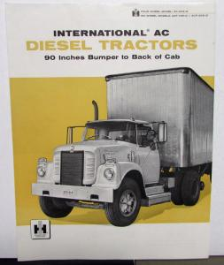 1958 International Trucks IHC AC Diesel Tractors Sales Folder Brochure Original