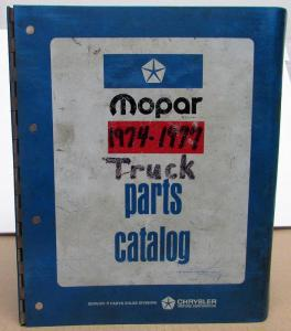 1974 1975 1976 1977 Dodge Light Medium HD Truck Dealer Parts Catalog Warlock