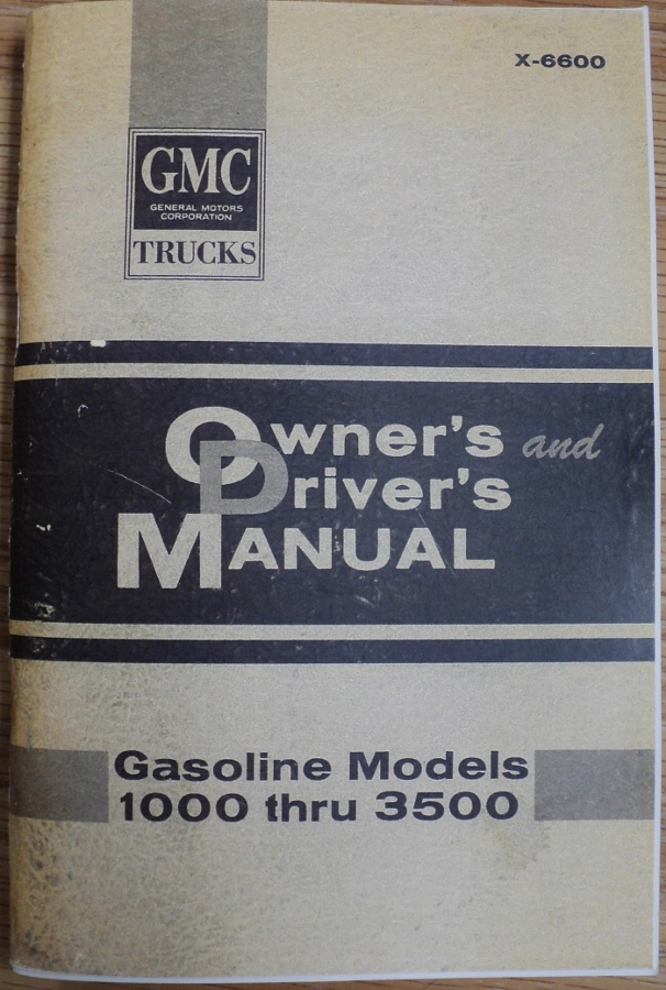 1966 gmc pickup truck 1000 1500 2500 3500 owners manual suburban panel rh autopaper com gmc truck owners manualsowners manuals gmc sierra owners manual 2015