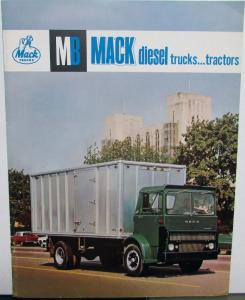 1963 1964 1965 Mack Diesel Trucks Tractors Sales brochure Original