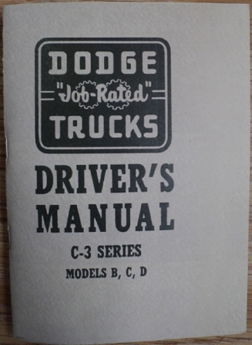 1955 Dodge Truck Owners Manual C3 Series Models B C D New Reproduction