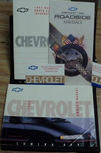 1992 Chevrolet Lumina APV Owners Manual Van