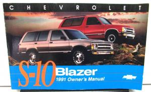 1991 Chevrolet S10 Blazer Owners Manual
