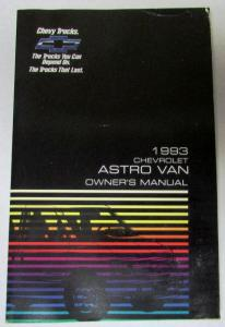 1993 Chevrolet Astro Van Owners Manual Passenger and Cargo