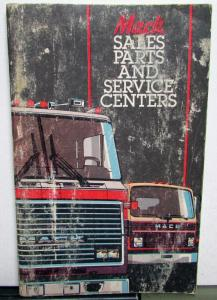 1984 Mack Trucks Sales Parts And Service Centers Book Directory Original