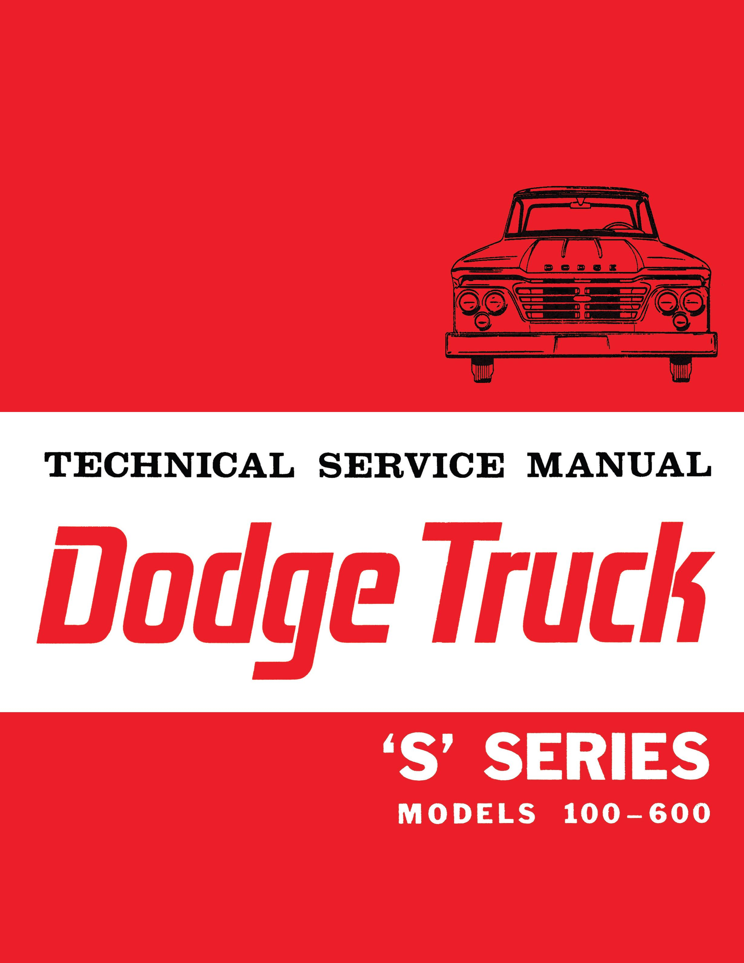 1964 Dodge Truck 100-600 S Series Shop Manual