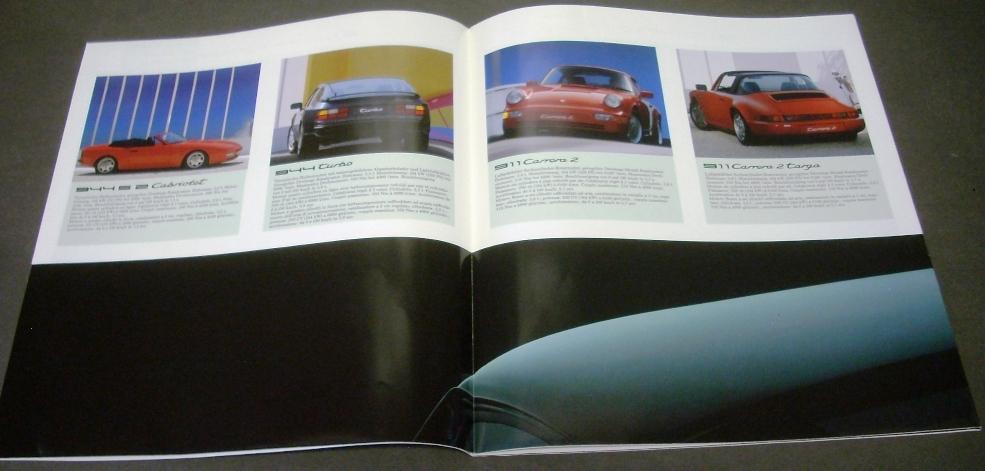1990 Porsche Dealer Prestige Sales Brochure German Text