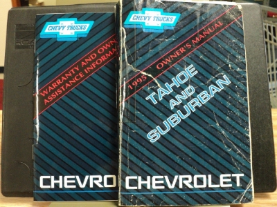 1995 Chevrolet Tahoe Suburban Truck Owners Manual