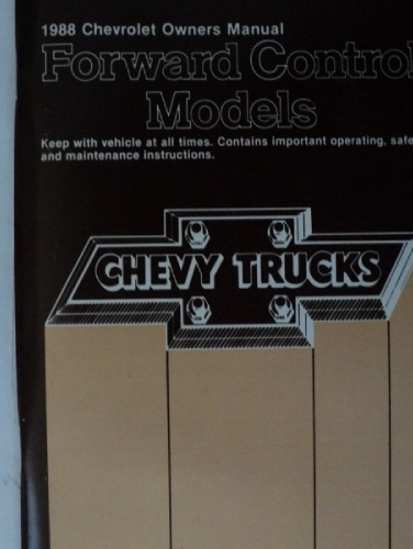 1988 Chevrolet Truck Forward Control Models Owners Manual