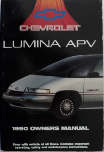 1990 Chevrolet Lumina APV Mini Van Owners Manual