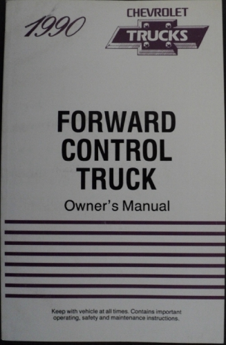 1990 Chevrolet Forward Control Truck Owners Manual Fwd Control Chassis