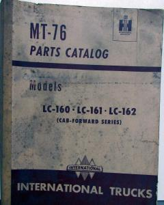 1949 1950 1951 1952 International Trucks LC 150 161 162 Parts Book