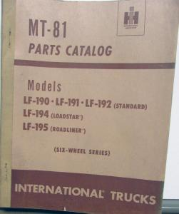 1949 1950 1951 1952 International Trucks LF 190 191 192 194 195 Parts Book