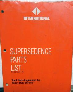 1992-1997 International Truck Dealer Supersedence Parts List 12/97