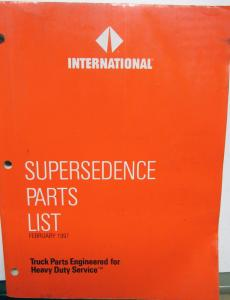 1992-1997 International Truck Dealer Supersedence Parts List 2/97