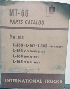 1949 1950 1951 1952 International Truck L160 161 162 163 164 165 Parts Book