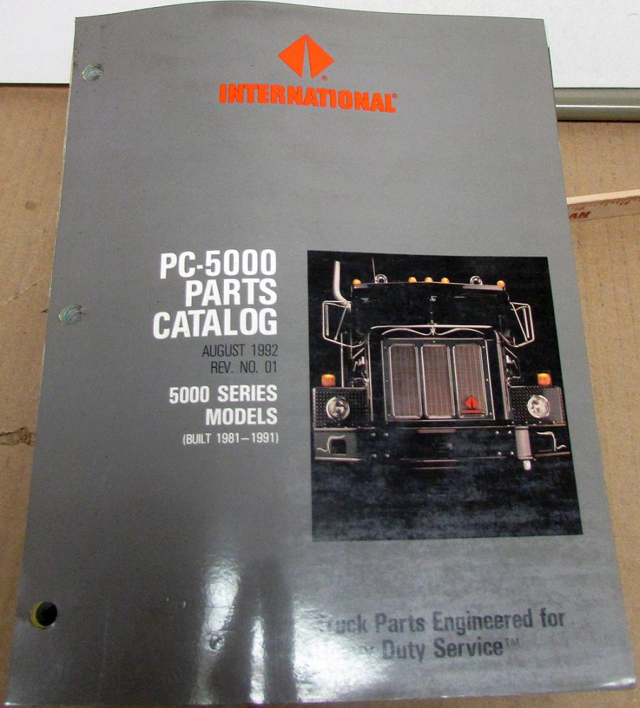 1981-1991 International Truck 5000 Series PC-5000 Parts Book