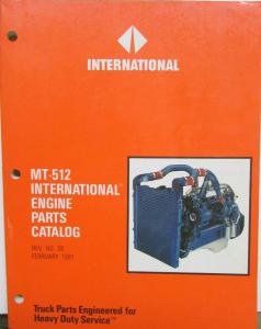 1990 1991 International Truck Diesel & Gas Engine Parts Catalog MT-512