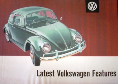 Original 1961 Volkswagen Color Sales Brochure Folder Sedan Beetle Rare