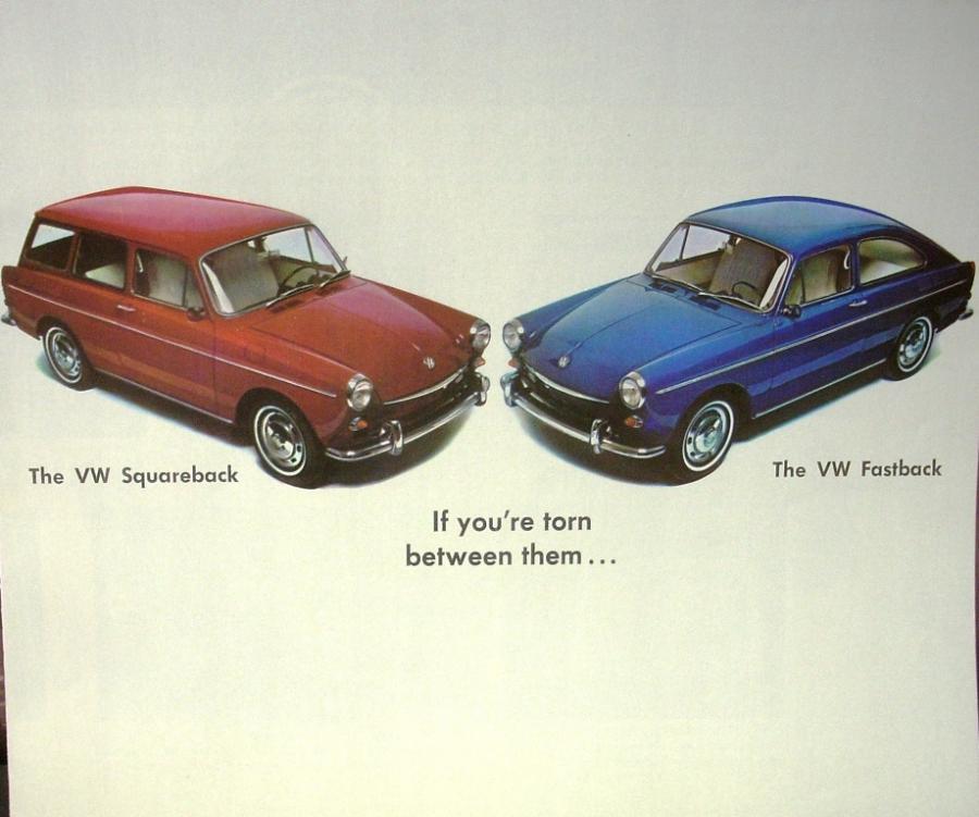 1967 Volkswagen Dealer Sales Brochure Folder Squareback and