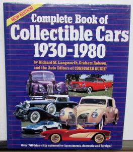 1930-1980 Complete Book Of Collectable Cars Auburn Cadillac 69 Chrysler 74 Cord