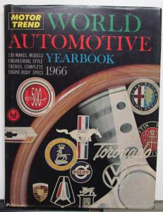 1966 Automotive Yearbook Plymouth Dodge Ford Chevrolet Original