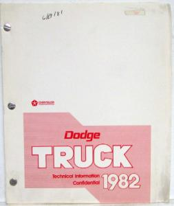 1982 Dodge Truck Technical Information Press Preview Media Kit - Confidential
