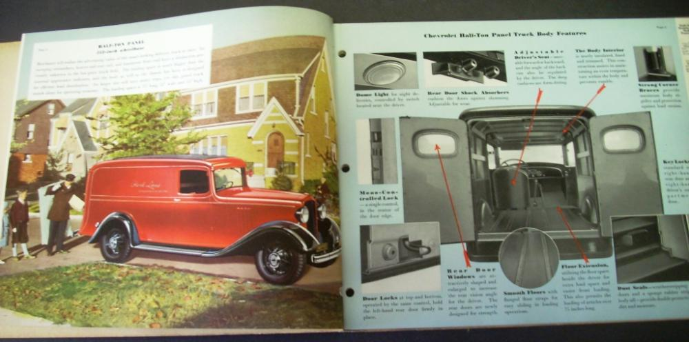 1934 Chevrolet Truck Dealer Album Gold Book Of Truck Values Half-Ton ...