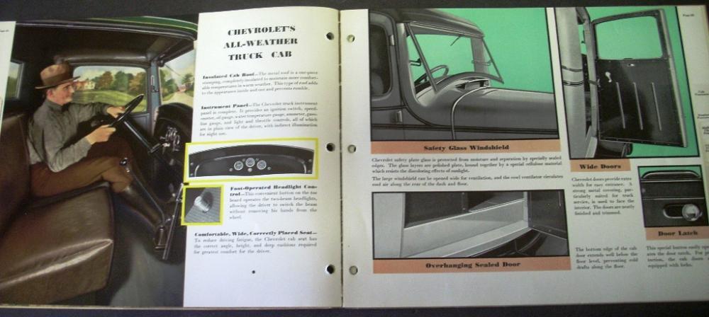 1935 Chevrolet Truck Dealer Al Gold Book Of Values Panel Pick Up Stake