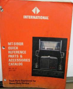 International Truck Quick Reference Parts & Accessories Catalog 1977-1991