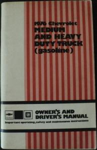 1976 Chevrolet Med & Heavy Duty Gasoline Truck Owners Manual Models 40 thru 80