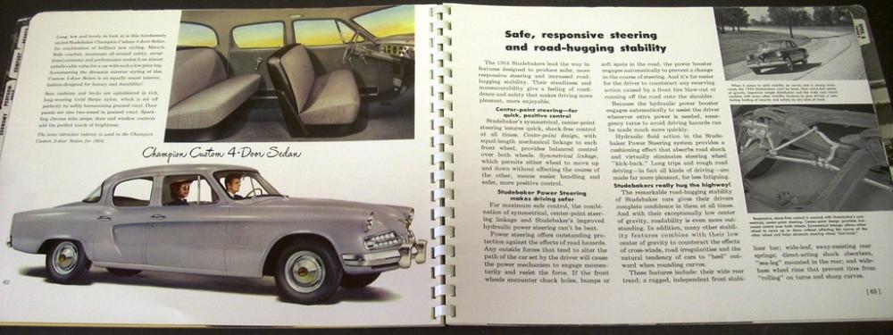 1954 Studebaker Dealer Engineering Album Manual Facts