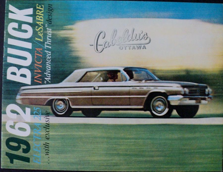 1962 Buick Electra 225 Invicta Lesabre Canadian Sales Brochure