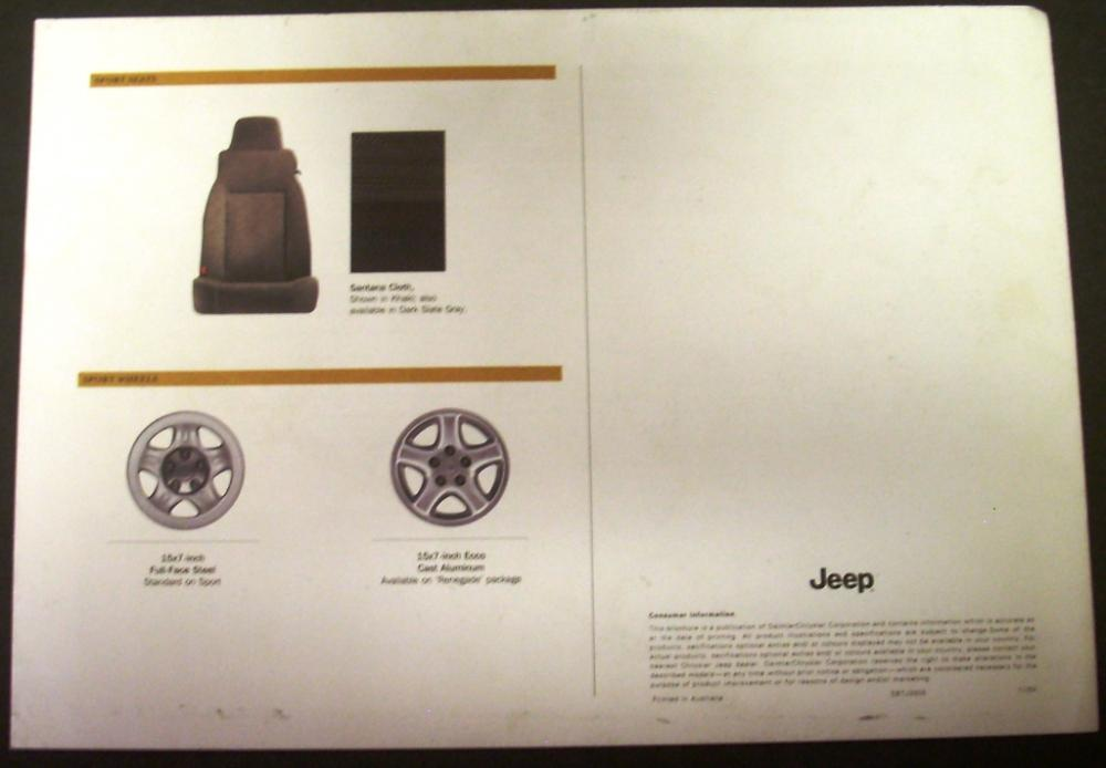 2005 Jeep Wrangler Dealer Sales Brochure 4x4