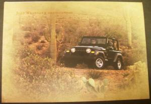 2005 jeep wrangler dealer sales brochure 4x4 specifications rare. Black Bedroom Furniture Sets. Home Design Ideas