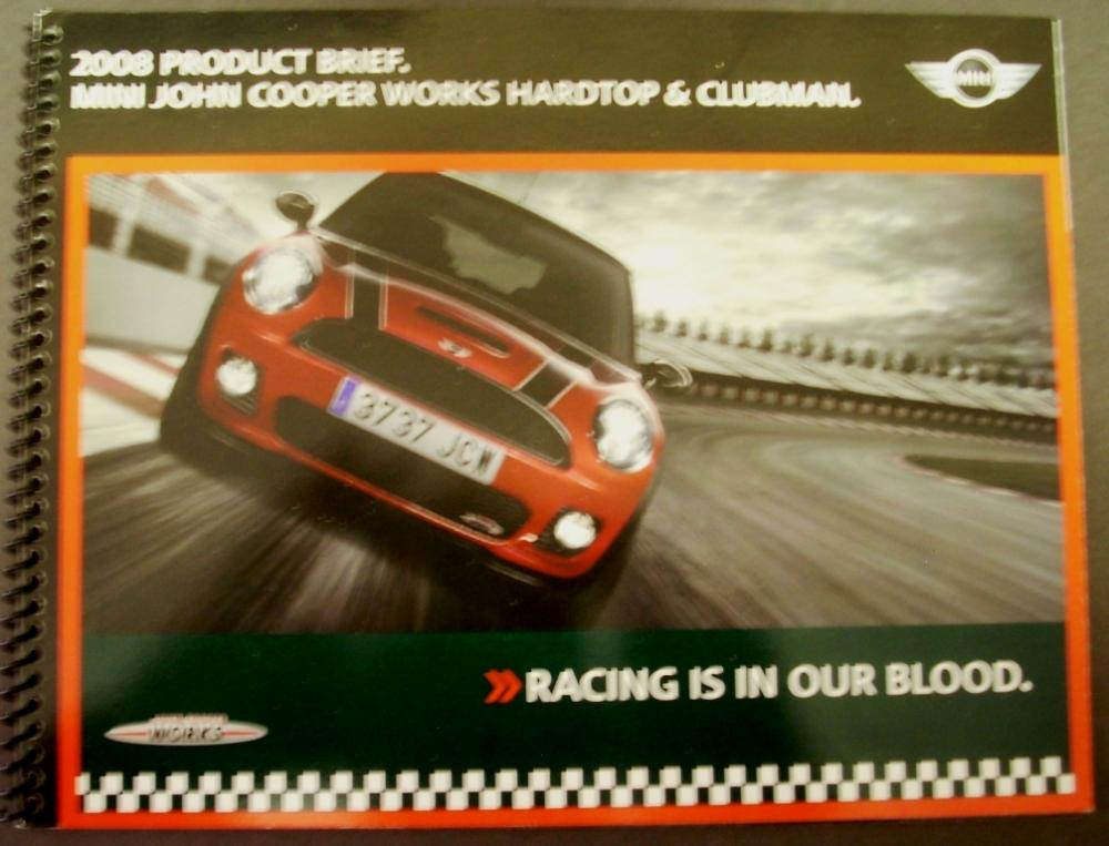 2008 Mini John Cooper Works Hardtop Clubman Product Brief Sales