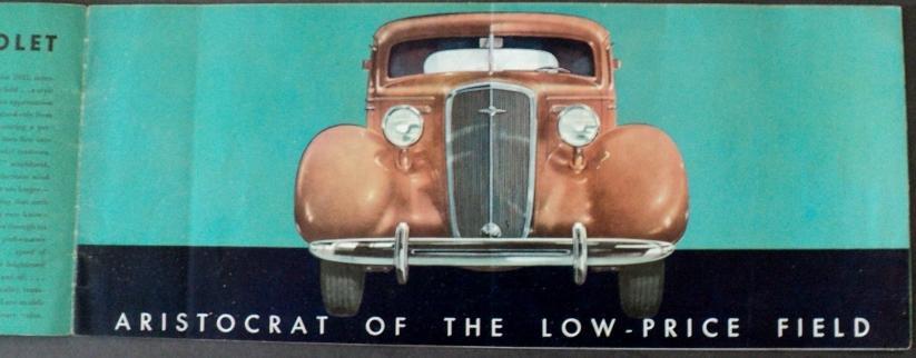 1935 Chevrolet ORIGINAL Sales Brochure Master Deluxe Line