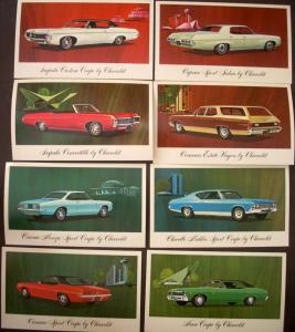 NOS 1969 Chevrolet Post Cards Camaro Corvair Chevelle Impala Convertible Nova