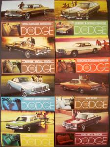 NOS Mopar 1975 Dodge Post Cards Dart Sport SE Charger Coronet