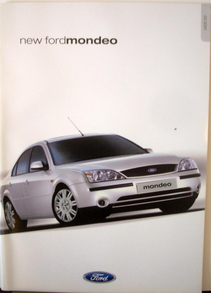2001 ford mondeo uk england sales brochure right hand drive. Black Bedroom Furniture Sets. Home Design Ideas