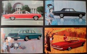 NOS Mopar 1963 Dodge Post Cards Dart GT Dart 270 Custom 880 Set of 4